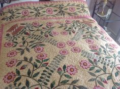 Di Ford Halls, 19th Century Baskets Quilt, completed by me after 6 years of stitching. Katrina has done a superb job of the quilting. By Joy Earle-Quick