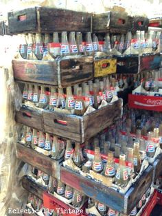 Free 2000 soda crates - take all you want. Blast from the past. We use to cash them in when they were empty. a nickle a bottle. Antique Bottles, Vintage Bottles, Pop Bottles, Glass Bottles, Vintage Advertisements, Vintage Ads, Vintage Tools, Vintage Ephemera, Coca Cola