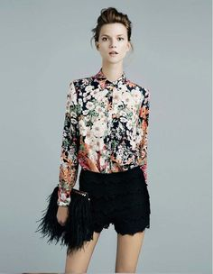 Camisa feminina floral, A PRONTA ENTREGA, ENVIO IMEDIATO