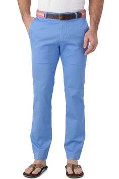 Southern Tide Channel Marker Tailored Trim Fit Pants Bermuda Teal Summer Weight #SouthernTide #KhakisChinos