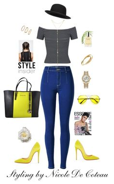 My Personal Styling by mznicola on Polyvore featuring Miss Selfridge, Christian Louboutin, Michael Kors, Rolex, Cartier, H&M and Fragments
