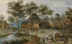 Dörfliche_Szene_am_Ziehbrunnen_(Josse_de_Momper,_Jan_Brueghel_II).jpg (6621×4077)