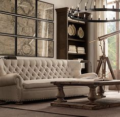 Fancy - Churchill Upholstered Sofas with Nailheads
