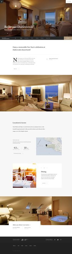 Adriatic Luxury Hotels designed by Hrvoje Grubisic for Bornfight. Connect with them on Dribbble; Hotel Website Design, Minimal Website Design, Mobile Web Design, Web Ui Design, Luxury Hotel Design, Luxury Hotels, Web Layout, Layout Design, Web Design Gallery