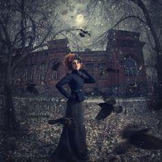 Beautiful fantasy by Russian photographer Margarita Kareva - Beauty will save Fantasy Photography, Fine Art Photography, Amazing Photography, My Fantasy World, High Fantasy, Miss Peregrines Home For Peculiar, Dark Fairytale, Dark Winter, Winter Moon