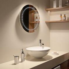 500 x 500 mm Modern Round Illuminated Battery LED Bathroom Mirror