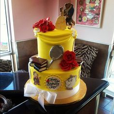 Look at this beauty!! It's no beast! #cake #beautyandthebeast #birthday