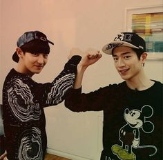 Chanyeol and Seo Kang Jun