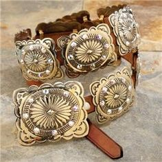 Colorado Creek Concho Belt Clothing, Shoes & Jewelry - Women - women's belts - http://amzn.to/2kwF6LI