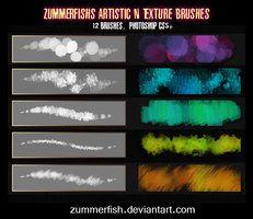 Zummerfish's Artistic N Texture Brushes by =zummerfish on deviantART