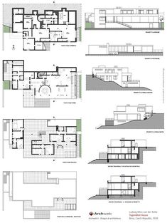 Lovell Health House plans  Richard Neutra  Architecture  Richard neutra House plans Architecture plan