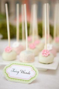 "cake pops ""fairy wands"""