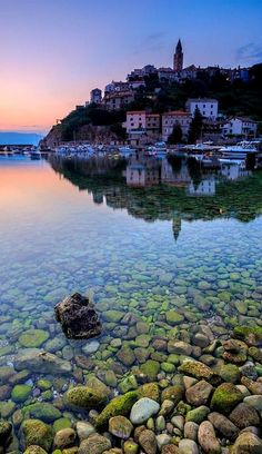 Vrbnik on the Island Krk in the Adriatic Sea at dawn, Croatia (by Davorin Mance)