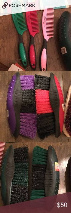 Grooming brushes/combs. Equine Assorted grooming items Ariat Other