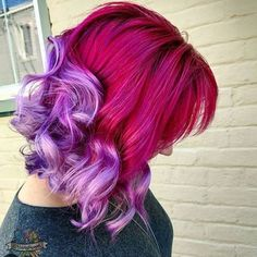 @hairbykaseyoh is the artist... Pulp Riot is the paint.