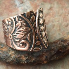 Boho Solid Copper Ring - Adjustable by BandanaGirlJewelry on Etsy
