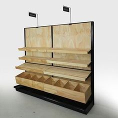 "bread display racks for stores BIALY - Bakery Display Cases and Shelving - Your Choice of Wood Stain! 84""H Wall x 96""W"