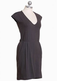 super simple gray dress