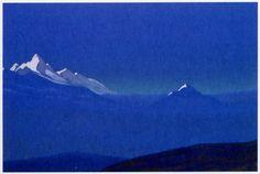 Н.К.Рерих. Монголия # 189 [Гималаи. Восход солнца]. 1937 Государственный Русский музей. Россия. Санкт-Петербург