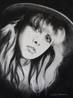 Stevie Nicks Wall Art - Drawing - Stevie Nicks Of Fleetwood Mac Has Anyone Ever Written Anything For You by Carla Carson Buckingham Nicks, Stephanie Lynn, Stevie Nicks Fleetwood Mac, Look Vintage, Beautiful Voice, American Singers, My Idol, Rock And Roll, Black And White