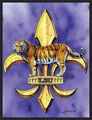 LSU Tiger & Fluer-de-lis