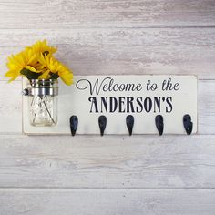 So cute!  Welcome To The Personalized Name Sign With by CountryLivingAtHeart, $58.00