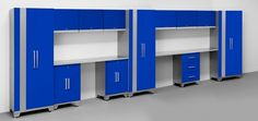 NewAge Performance 14 Piece Cabinet Set - Blue #GarageCabinetsOnline   $2,449.50