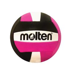 """MINI SOUVENIR VOLLEYBALL • Synthetic leather • Size: 5"""" diameter • Pink/Black  