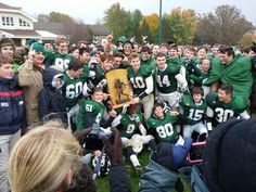 On Saturday, the Greenies dominated the blustery weather and the Blues 47-12 to retain the Fayssoux-Arbogast Trophy in the 88th meeting.  The Greenies will compete in the first round of the NCISAA Division II playoffs on Friday, November 7. Thanks to all families who braved the weather to cheer for the athletes!