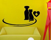 Wall Decals Petshop Vet Grooming Salon Cat Dog Decal Vinyl Sticker Decor Home Bedroom Interior Design Art Mural Chu711