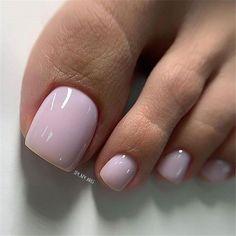 Pretty Toe Nails, Cute Toe Nails, Gorgeous Nails, Gel Toe Nails, Acrylic Toe Nails, Pink Toe Nails, Duck Feet Nails, Nail Pink, Gel Nail
