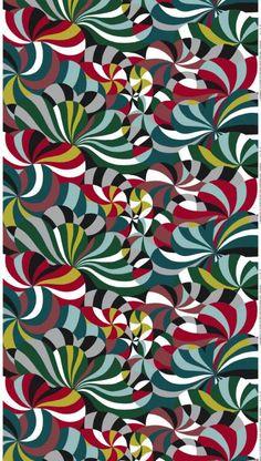 Motif Spinning, design Anna Danielsson. Tissus d'ameublement Marimekko. Achat…