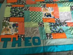 Sewing project!!!So I've started doing some small sewing projects, one of which is I am making a patchwork blanket for my son. I will soon be making patchwork
