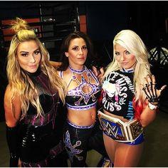 Natalya, Mickie James and Alexa Bliss