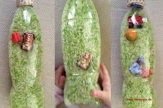 Schüttelflasche für kleine Entdecker aus Plastikflasche