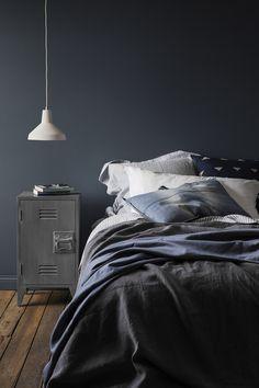 stoere slaapkamer - donkere kleuren - Haymes
