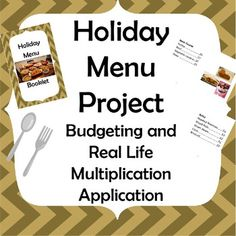 Holiday Dinner Activity: Budgeting and Real Life Multiplication Application Math Activities, Teacher Resources, Teacher Pay Teachers, Teaching Ideas, Creative Teaching, Classroom Resources, Teaching Materials, Fun Math, Maths