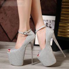 Trendy Platform Buckle Stiletto High Heels Pumps