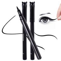 1PC NEW Beauty Cat Style Black Long lasting Waterproof Liquid Eyeliner Eye Liner Pen Pencil Makeup Cosmetic Tool-in Eyeliner from Health & Beauty on Aliexpress.com   Alibaba Group