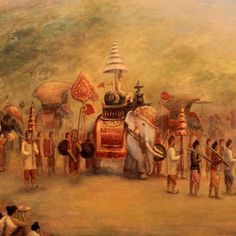 Procession Of The King Painting by Sompaseuth Chounlamany King Painting, Oil Painting On Canvas, Canvas Art, Canvas Prints, Painting Art, Mythology Paintings, Colonial Art, Thai Art, Indian Art