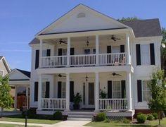 Plan 9732AL: Two Porches. Raised HousePlantation Style ...