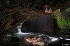 After Dark 4 - Exploring the Underground Waterfall utilizing natural light in photographing. Feel mistyque and tense atmosphere occational bat rushes add dramatic in Goa Lalay Waterfall Majalengka West Java Indonesia.