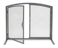 Pilgrim Single Panel Shadow Iron Door Screen - Natural Iron