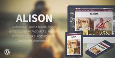 Download and review of Alison - Responsive WordPress News Theme, one of the best Themeforest Magazine & Blogs themes
