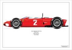 Phil Hill 1961 Ferrari 156 Sharknose Superb Airbrush Print