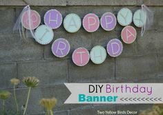 Girly Birthday Banner