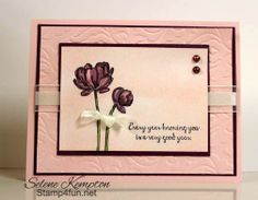 Stampin' Up Creative Crew Bloom with Hope and Blendabilities Card, Multiple Medium Card, Selene Kempton