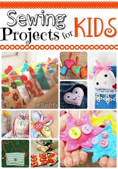 So… are you looking to teaching kids to sew? If yes, we have brought together some great little sewing projects for kids. Sewing projects that they SHOULD be able to do. The majority of these sewing projects, my kids have **actually** made themselves betw Sewing Hacks, Sewing Tutorials, Sewing Crafts, Sewing Tips, Sewing Lessons, Sewing Patterns Free, Free Sewing, Craft Patterns, Easy Fabric Flowers