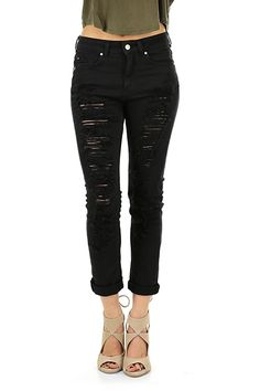 Kocca - Jeans - Abbigliamento - Jeans elasticizzati con dettagli strappati e consumati sulla lunghezza.La nostra modella indossa la taglia /EU 25. - 00016