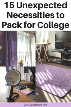 15 unexpected necessities to pack for college - these surprising items are a must have in every dorm room!